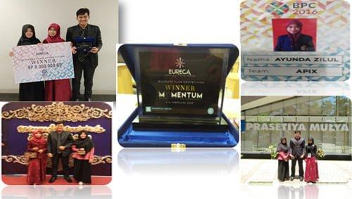 Fkm unair Juara di event EURECA (Entrepreneur Creative Challenge) 2016